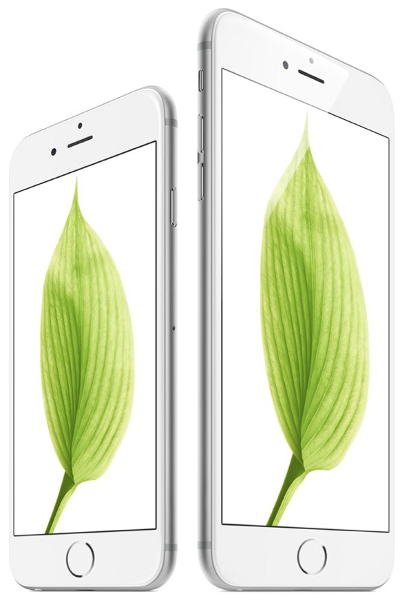 Silver iPhone 6 6 Plus side by side آیفون ۶ (عکس ها)