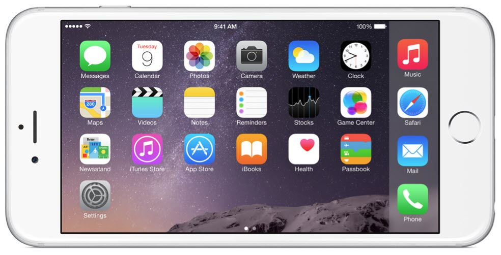 iPhone 6 Plus Home landscape آیفون ۶ (عکس ها)