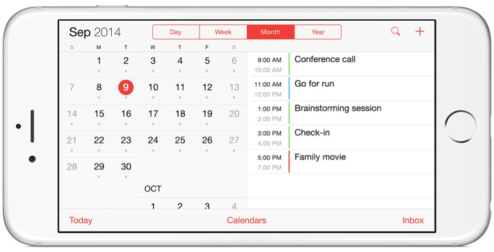 iPhone 6 Plus calendars landscape آیفون ۶ (عکس ها)