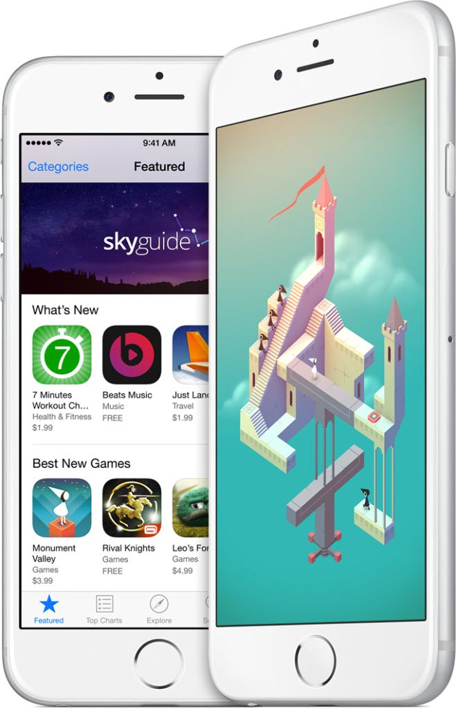 iPhone 6 apps tall 659x1024 آیفون ۶ (عکس ها)