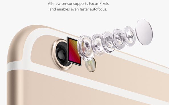 iPhone 6 camera focus pixels آیفون ۶ (عکس ها)