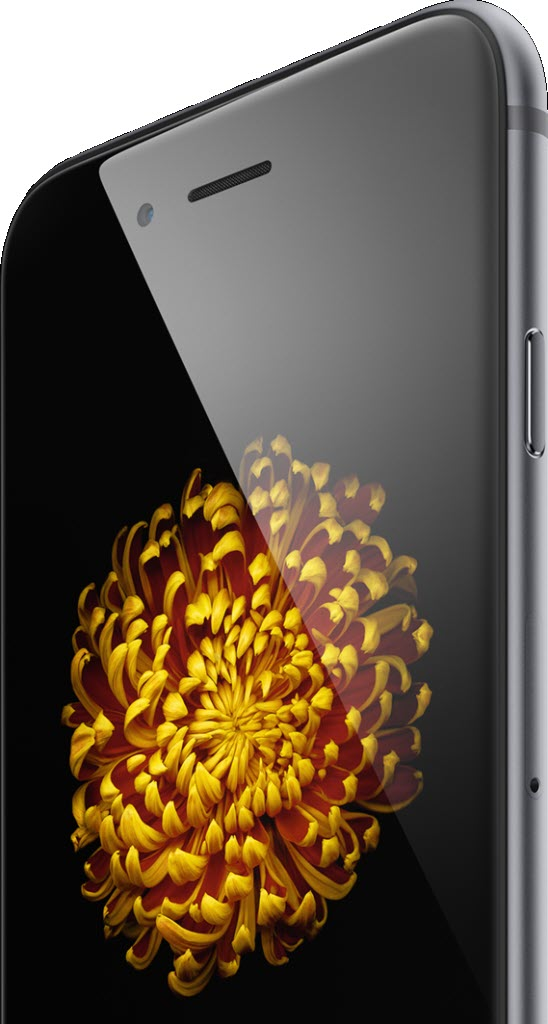 iPhone 6 front screen 548x1024 آیفون ۶ (عکس ها)