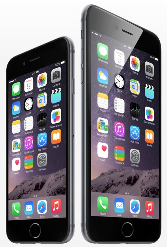 iPhone 6 iPhone 6 Plus side by side  آیفون ۶ (عکس ها)